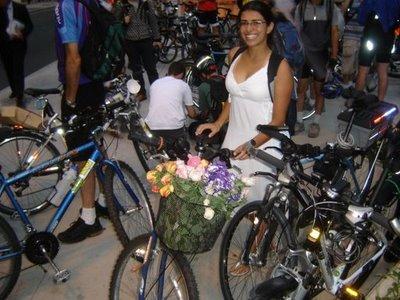 Evelyn Araripe no São Paulo Cycle Chic