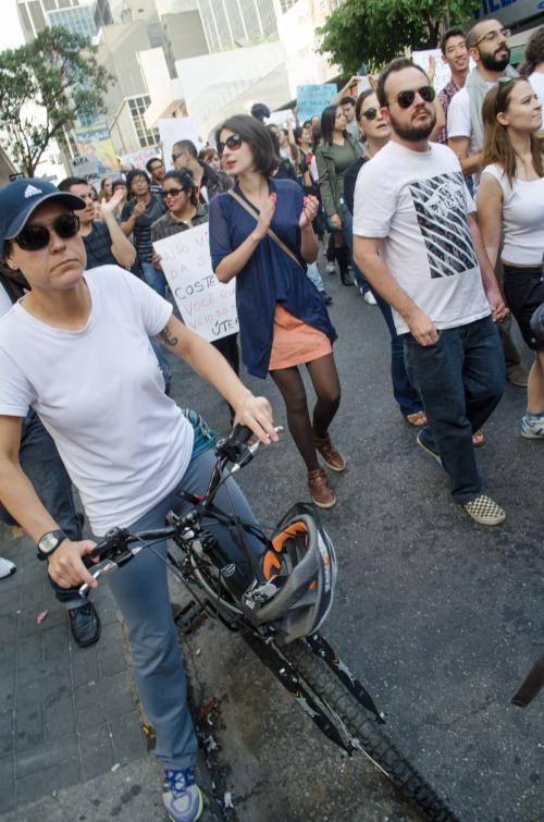 As bicicletas na Marcha das Vadias 2013