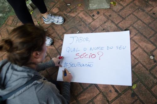 Concentração na praça dos Praça dos Omaguas[Pinheiros – zona oeste], para os preparativos do Quinto protesto contra o aumento da tarifa do transporte publico (onibus, trens e metro) que percorreu ruas e avenidas na região oeste e sul de São Paulo.